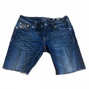 Miss Me Cut Off Denim Shorts